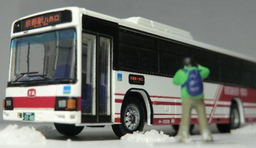 京阪バスの日野ブルーリボンに安全祈願をしました! バスコレ25弾