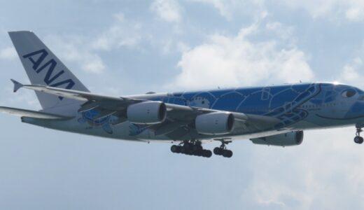 ANA初の試み|沖縄に二階建ての【A380】が飛来!JA381A